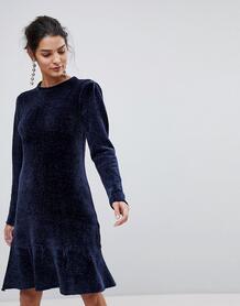Платье с оборкой Y.A.S - Синий 1215627
