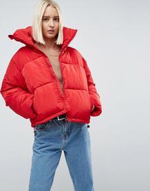 Дутое оверсайз-пальто Brave Soul - Красный 1144198