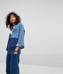 Двухцветная джинсовая куртка Noisy May - Синий 1199033