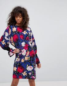 Платье с цветочным принтом Minimum - Синий 1186210