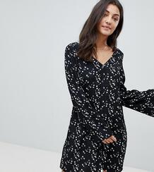 Свободное платье с принтом ласточек Glamorous Tall - Черный 1205961