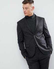 Темно-серый супероблегающий пиджак в клетку River Island - Серый 1239873