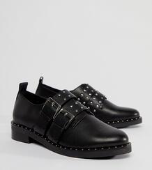 Кожаные туфли на плоской подошве ASOS MOLTEN Premium - Черный ASOS DESIGN 1211283