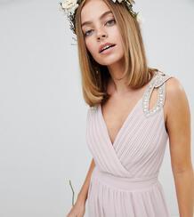 Платье макси с запахом TFNC Petite - Коричневый 1181781