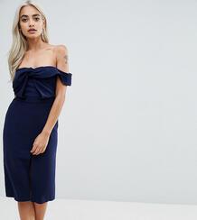 Платье-футляр с узлом True Decadence Petite - Темно-синий 1163916