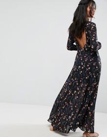Платье макси с цветочным принтом и открытой спиной Liquorish - Мульти 1115859