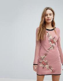 Сетчатое пляжное платье Minkpink San Antonio - Розовый 1198251