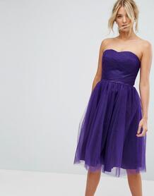 Платье-бандо из тюля Hell Bunny - Фиолетовый 1166859
