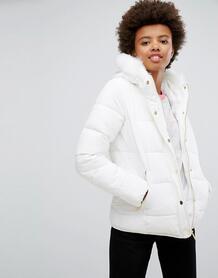Дутое пальто на молнии Brave Soul - Белый 1050925