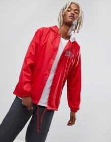 Красная спортивная куртка с капюшоном и вышитым логотипом HUF 1202039