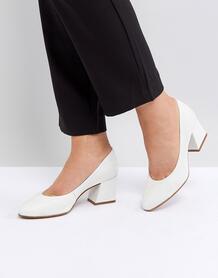 Кожаные туфли на каблуке ASOS SPEARMINT - Белый ASOS DESIGN 1175403