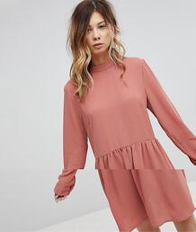 Свободное платье с бантом Pieces - Розовый 1216191
