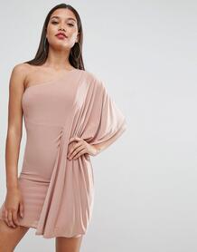 Платье мини на одно плечо ASOS - Розовый ASOS DESIGN 1062524