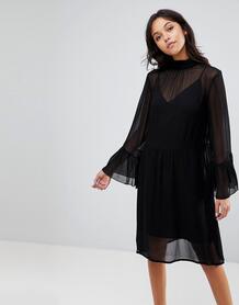 Платье с рукавами клеш Gestuz - Черный 1204604