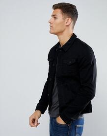Черная джинсовая куртка Tom Tailor - Черный 1182625