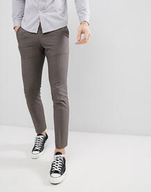 Узкие брюки Selected Homme - Коричневый 1122245