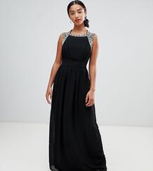 Платье макси с отделкой TFNC Petite Bridesmaid - Черный 1131656