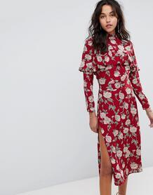 Платье миди с цветочным принтом Flynn Skye - Красный 1188360