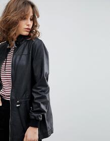 Кожаная куртка Selected Femme - Черный 1218333