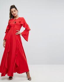 Платье макси с оборками Forever New - Красный 1188111