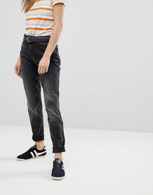 Джинсы в винтажном стиле с молниями Lee - Черный 1179257
