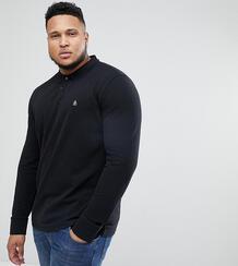 Черная футболка-поло с длинными рукавами Original Penguin Big & Tall 1201445