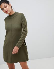 Свободное вязаное платье с высоким воротом Jack Wills - Зеленый 1173679