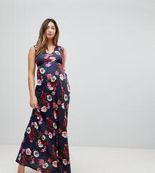 Платье макси с глубоким декольте и вырезами Bluebelle Maternity 1159996