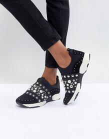 Кроссовки с заклепками Carvela - Черный 1123891
