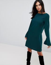 Платье с рукавами-клеш Vila - Зеленый 1142362