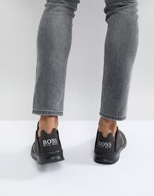 Кроссовки цвета хаки BOSS - Зеленый Boss Orange 1185420