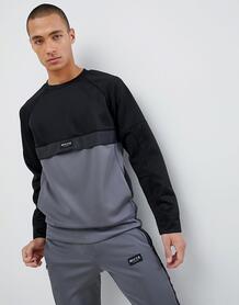 Черный свитшот с серой вставкой Nicce - Черный Nicce London 1170372