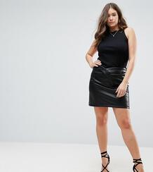 Фактурная мини-юбка из искусственной кожи ASOS CURVE - Черный 1155345