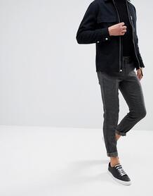 Строгие брюки скинни в крапинку Selected Homme - Черный 1085442