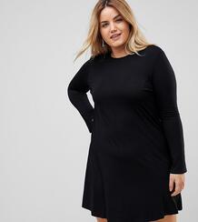 Свободное платье мини с рукавами клеш ASOS CURVE - Черный 1190015