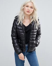 Утепленное пальто с капюшоном Brave Soul - Черный 1050936