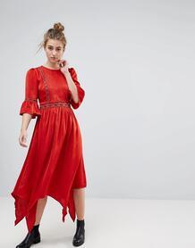 Платье миди с вышивкой Moon River - Красный 1206411