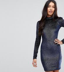 Бархатное облегающее платье с высоким воротом и отделкой блестками Gla Glamorous Tall 1170760