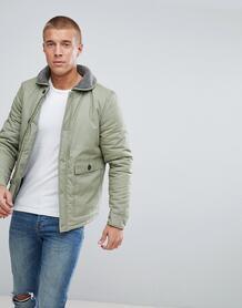 Куртка с воротником из искусственного меха Another Influence - Зеленый 1022361