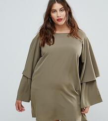 Платье с ярусными рукавами AX Paris Plus - Зеленый 1163736
