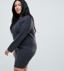 Оверсайз-платье мини ASOS CURVE - Серый 1108467