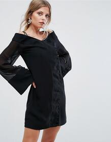 Платье мини с широкими рукавами C/Meo Collective Presence - Черный 1163371