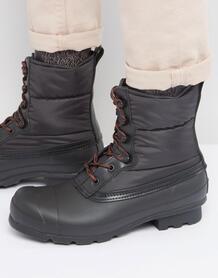 Стеганые ботинки на шнуровке Hunter Original - Черный 985618