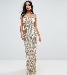 Платье-бандо макси с пайетками TFNC Petite - Золотой 1167166