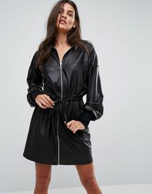 Спортивное платье из искусственной кожи ASOS - Черный ASOS DESIGN 1157412