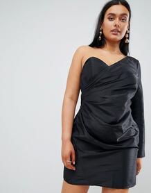 Платье мини на одно плечо Missguided - Черный 1162233