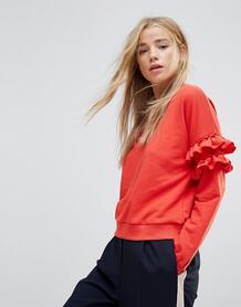Свитшот с оборками New Look - Красный 1189208