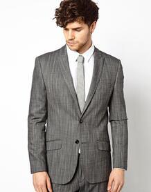 Приталенный пиджак River Island - Серый 417630