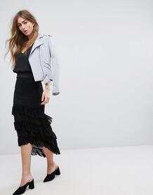 Асимметричная юбка с ярусными оборками River Island - Черный 1100040