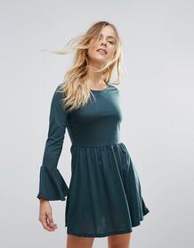 Трикотажное платье с рукавами клеш Brave Soul - Зеленый 1149667